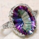 cincin perak topaz untuk wanita idaman